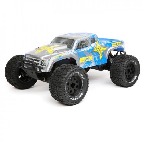 ECX 1/10 2WD Ruckus MT BD Lipo Silver Blue RTR INT