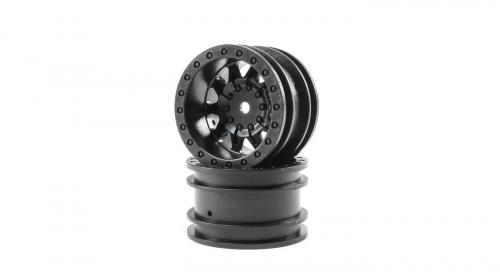 1.55 Wheels, Black (2): Barrage 2.0 (ECX41007)