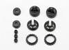 Caps and spring retainers, GTR shock (upper cap (2