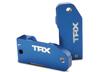 Caster blocks 30-degree, blue-anodized 6061-T6 alu