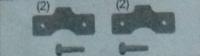 Bromsplattor & skruv MTA V2