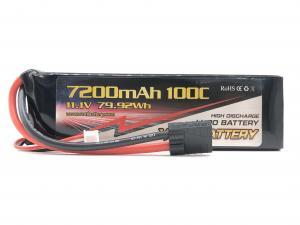 Vant 11.1v 100c 7200mah battery med Traxxas-kontakt!
