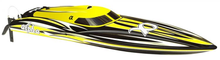 Joysway Alpha 1000mm Borstlös V-båt ARTR Gul