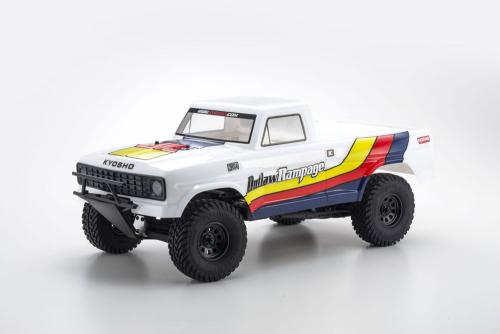 KYOSHO OUTLAW RAMPAGE 1:10 EP 2WD TRUCK (KT231P) T1 WHITE READYSET