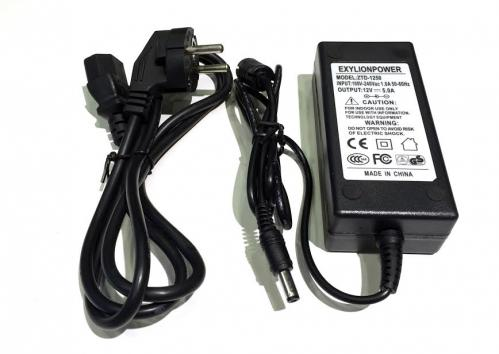 Exylion Power nätaggregat 5A 12V Ac/dc Adapter
