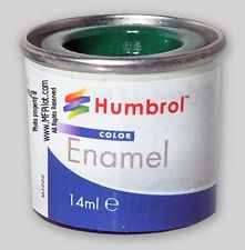 Humbrol Enamel, NO1 Emerald Green 02