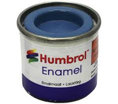 Humbrol Enamel NO1 Matt Blue 25