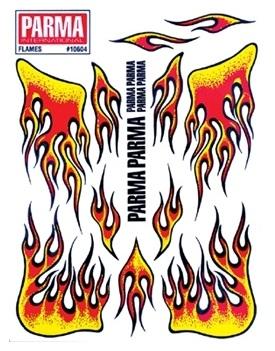 Parma dekalark flammor RÖD