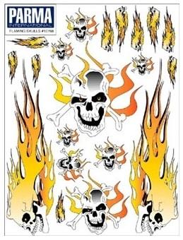 Parma Dekalark Döskallar flammor