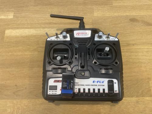 ARTTECH 6ch radio med mottagare och manual
