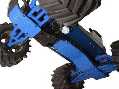 RPM SKID PLATE SET 3 DELAR TRAXXAS T/E MAXX SVART