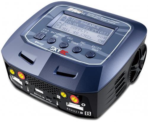 SkyRC D100-V2 Dubbelladdare 2x100W 240VAC/12DC