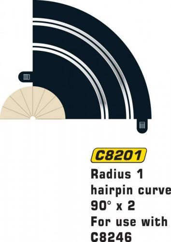 SCALEXTRIC RAD 1 HAIRPIN CURVE 90 GRADER