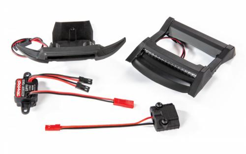 TRX6795 LED LJUS FRAM & TAK SET KOMPLETT RUSTLER 4X4