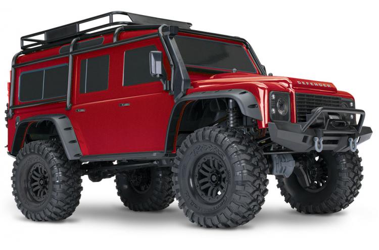 Traxxas TRX-4 Scale & Trail Crawler Land Rover Defender Röd RTR