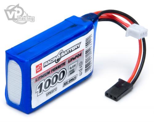 Mottagarbatteri Li-Fe 6,6V 1000mAh