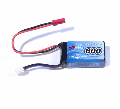 Li-Po Batteri 2S 7,4V 600mAh 25C JST-RCY (BEC)