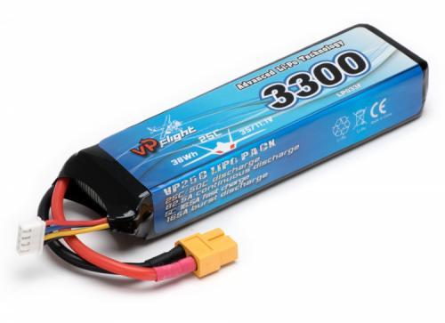 Li-Po Batteri 3S 11,1V 3300mAh 25C XT60-Kontakt