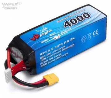 Li-Po Batteri 6S 22,2V 4000mAh 25C XT60-Kontakt