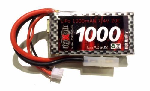 Lipo acc 1000mah 7.4V för bil och båt
