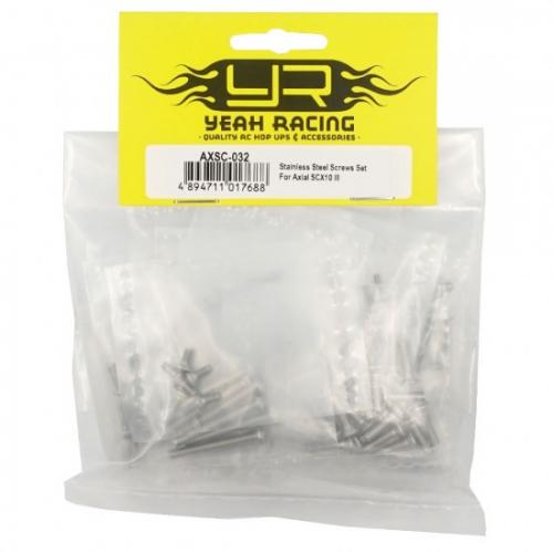 STAINLESS STEEL SCREWS SET FOR AXIAL SCX10 III