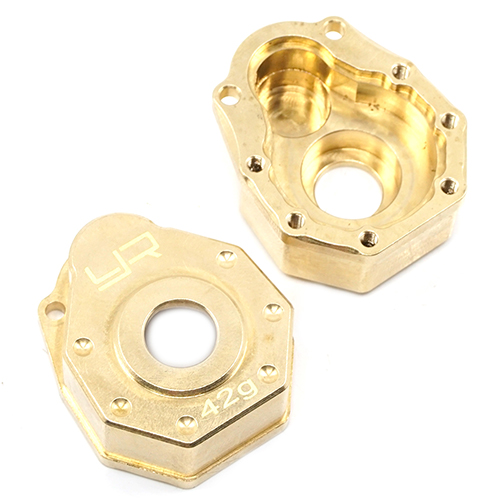 Yeah Racing Brass Front or Rear Portal Cover 42g 2 pcs For Traxxas TRX-4