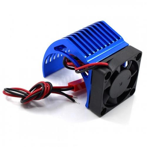 Yeah Racing ALUMINUM 540 MOTOR HEAT SINK W/ COOLING FAN BLUE