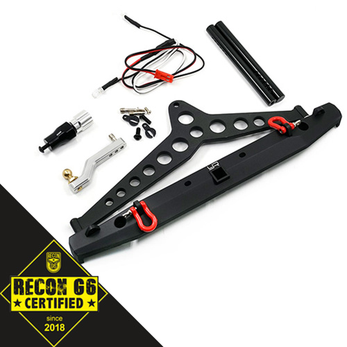 Yeah Racing Aluminum Alloy Rear Bumper w/LED Light Spare Tire Mount For SCX10 II TRAXXAS TRX-4
