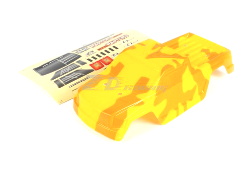 PVC Yellow Car Shell and Sticker