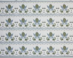 Bård B100-5 Arvika Tapet AB med fåglar, blad, kaktus, blå, grön, grå och vit