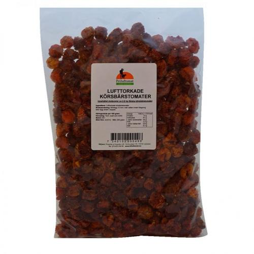 Air-dried cherry tomatoes