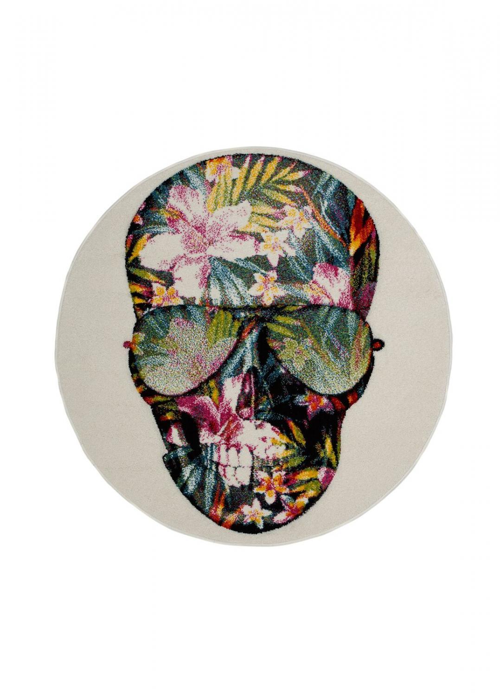 Cool Skull Vit Rund