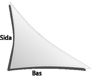 Dacron triangel högerställd