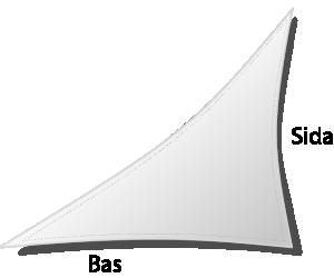 Dacron triangel vänsterställd