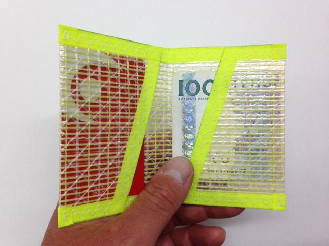 Plånbok Kevlar Gul