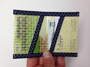 Plånbok Kevlar Mörkblå