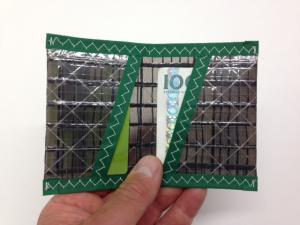Plånbok Kolfiber Grön