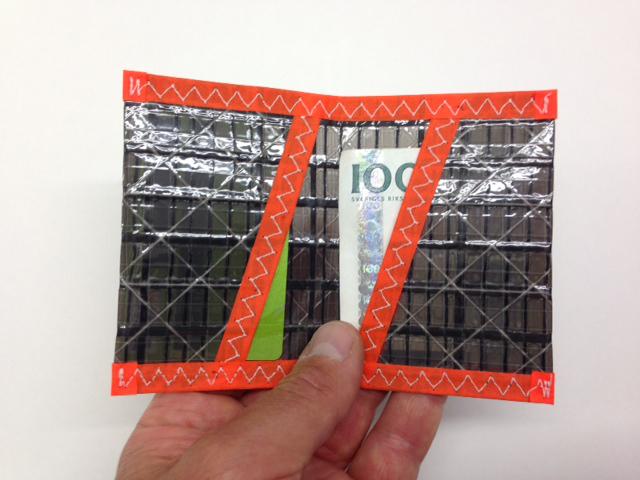 Plånbok Kolfiber Orange