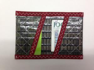 Plånbok Kolfiber Röd