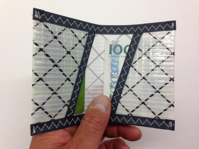 Plånbok Mylar Grå