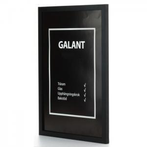 Galant svart 12x12