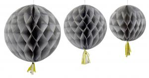Girlang bollar grå 3-pack