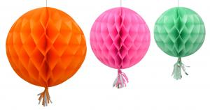 Girlang bollar mixade färger 3-pack