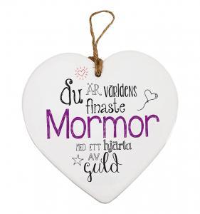 Budskapshjärta Mormor