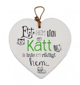 Budskapshjärta Katt