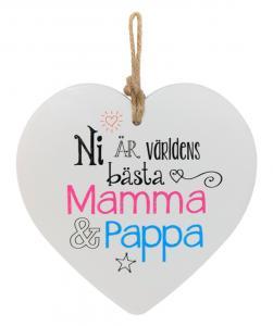 Budskapshjärta Mamma och Pappa