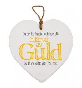 Budskapshjärta Guld