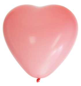 Ballonger 8-pack hjärta rosa