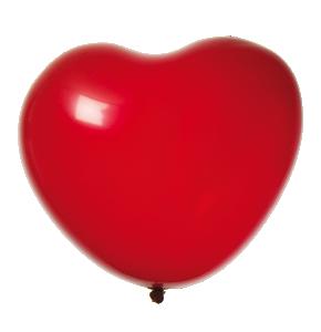 Ballonger 8-pack hjärta röd