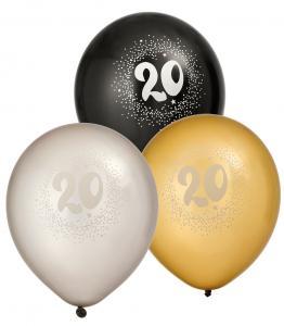 Ballonger 6-pack 20 år